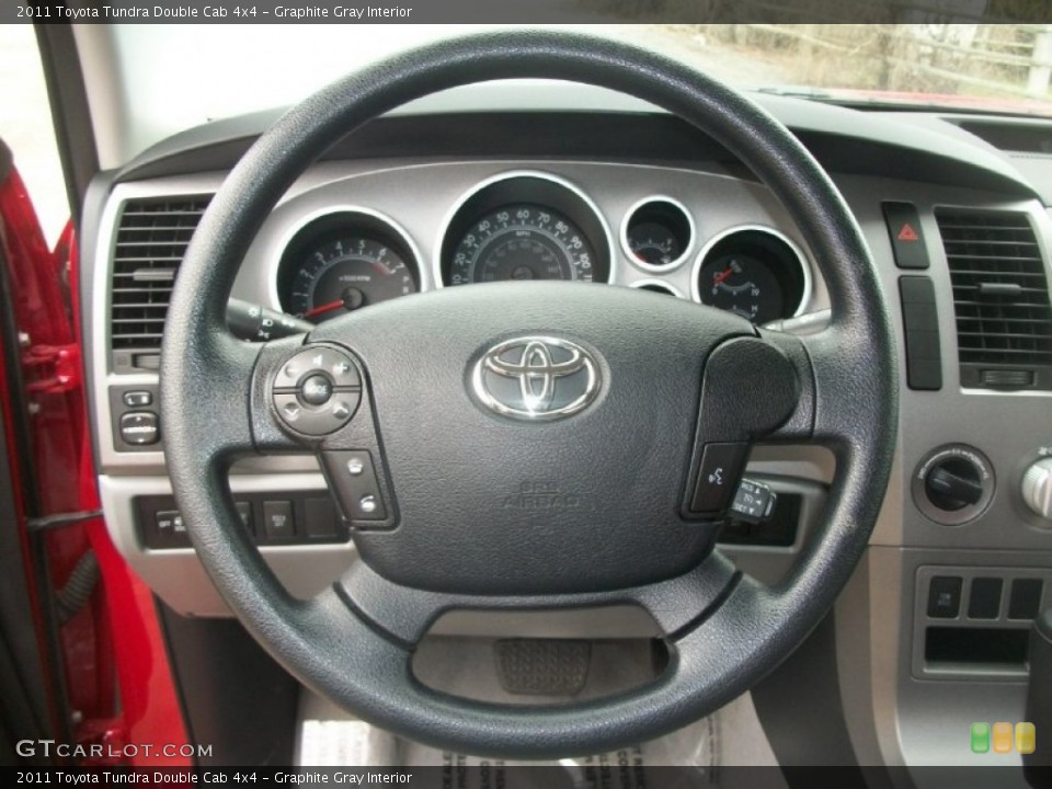 Graphite Gray Interior Steering Wheel for the 2011 Toyota Tundra Double Cab 4x4 #63417983