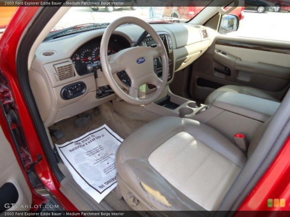 Medium Parchment Beige Interior Photo for the 2003 Ford Explorer Eddie Bauer #63474466