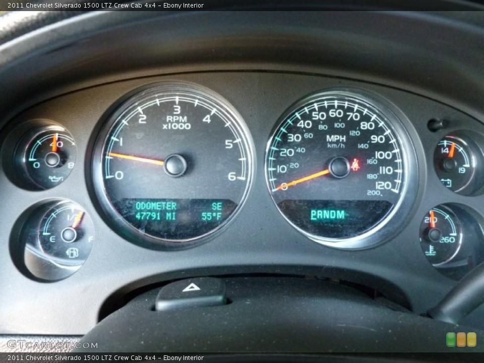 Ebony Interior Gauges for the 2011 Chevrolet Silverado 1500 LTZ Crew Cab 4x4 #63786123