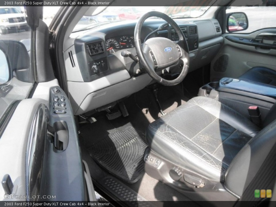 Black Interior Photo for the 2003 Ford F250 Super Duty XLT Crew Cab 4x4 #64373946
