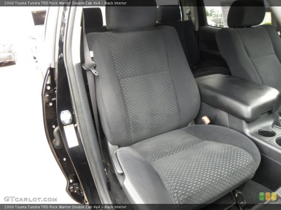 Black Interior Front Seat for the 2009 Toyota Tundra TRD Rock Warrior Double Cab 4x4 #64585076
