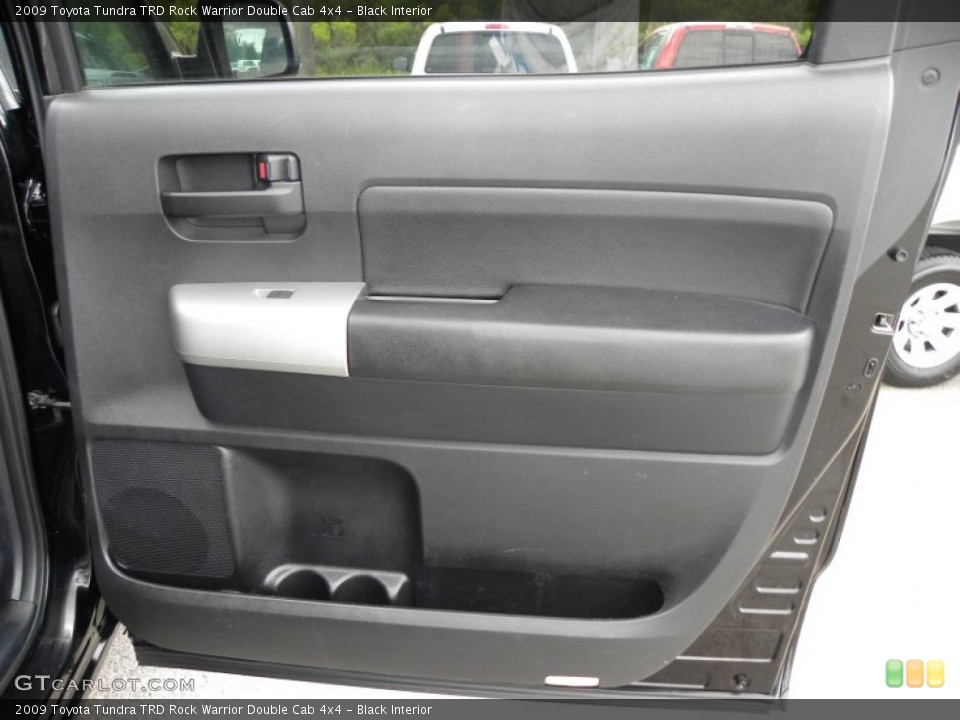Black Interior Door Panel for the 2009 Toyota Tundra TRD Rock Warrior Double Cab 4x4 #64585103