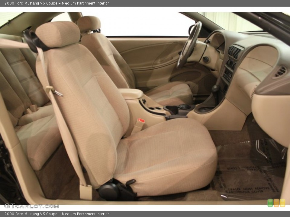 Medium Parchment Interior Front Seat for the 2000 Ford Mustang V6 Coupe #64604463