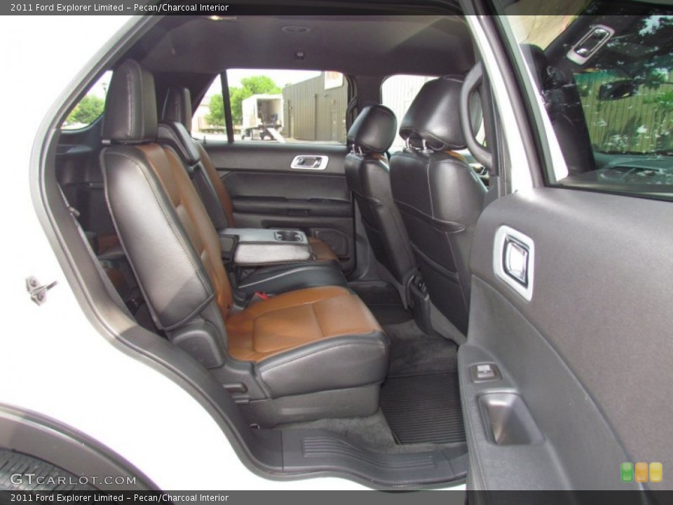 Pecan/Charcoal Interior Rear Seat for the 2011 Ford Explorer Limited #64726647
