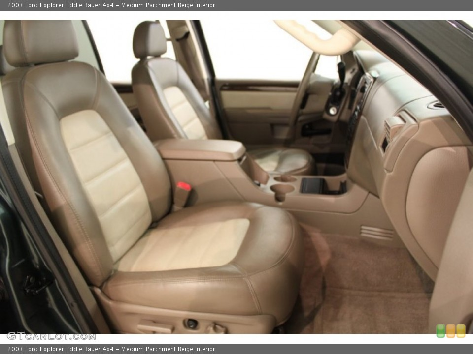 Medium Parchment Beige Interior Front Seat for the 2003 Ford Explorer Eddie Bauer 4x4 #64810571
