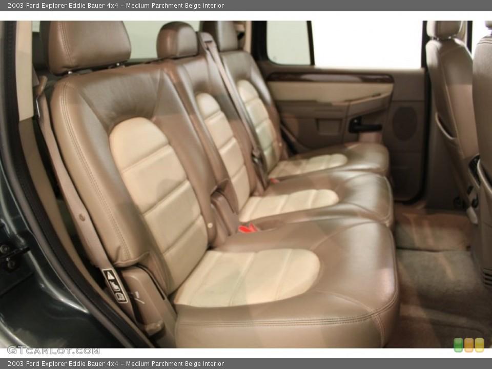 Medium Parchment Beige Interior Rear Seat for the 2003 Ford Explorer Eddie Bauer 4x4 #64810577
