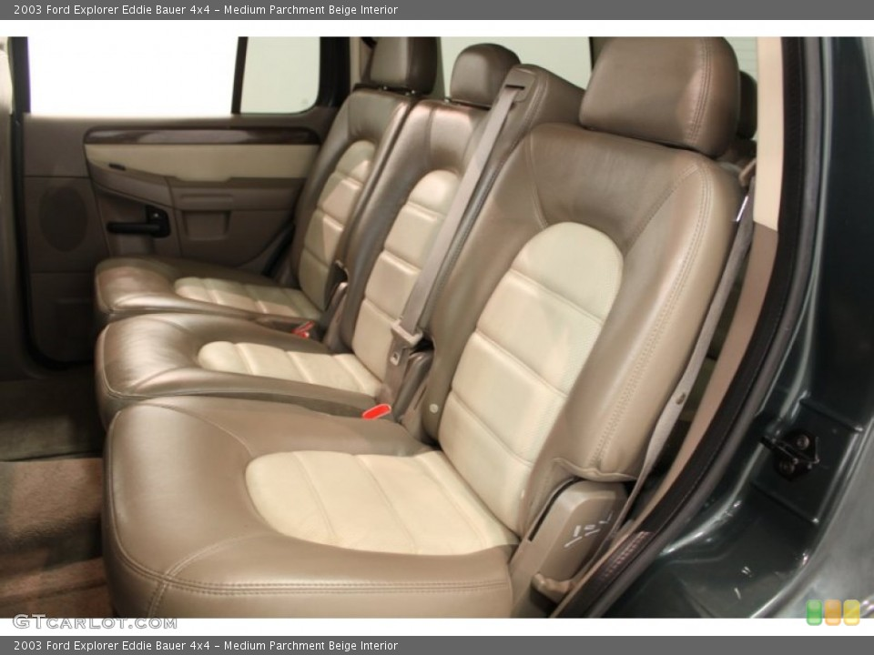 Medium Parchment Beige Interior Rear Seat for the 2003 Ford Explorer Eddie Bauer 4x4 #64810583