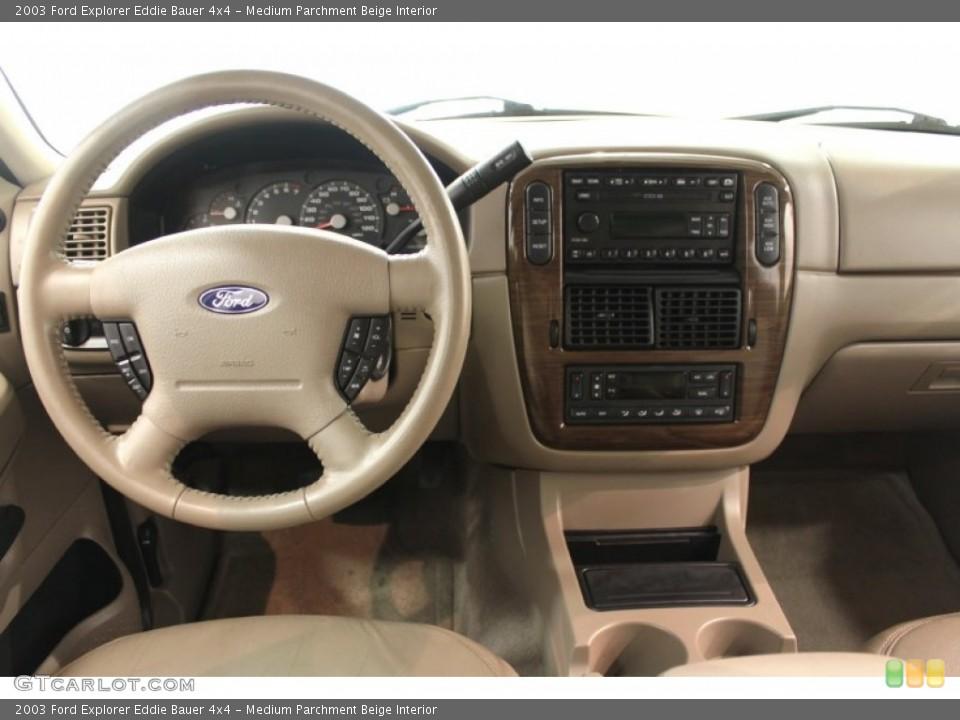 Medium Parchment Beige Interior Dashboard for the 2003 Ford Explorer Eddie Bauer 4x4 #64810589