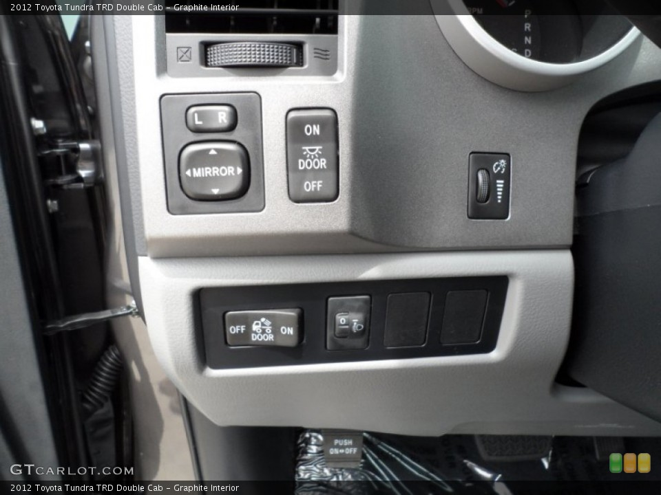 Graphite Interior Controls for the 2012 Toyota Tundra TRD Double Cab #65034628