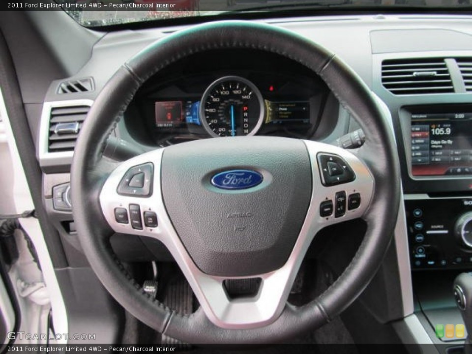 Pecan/Charcoal Interior Steering Wheel for the 2011 Ford Explorer Limited 4WD #65148600