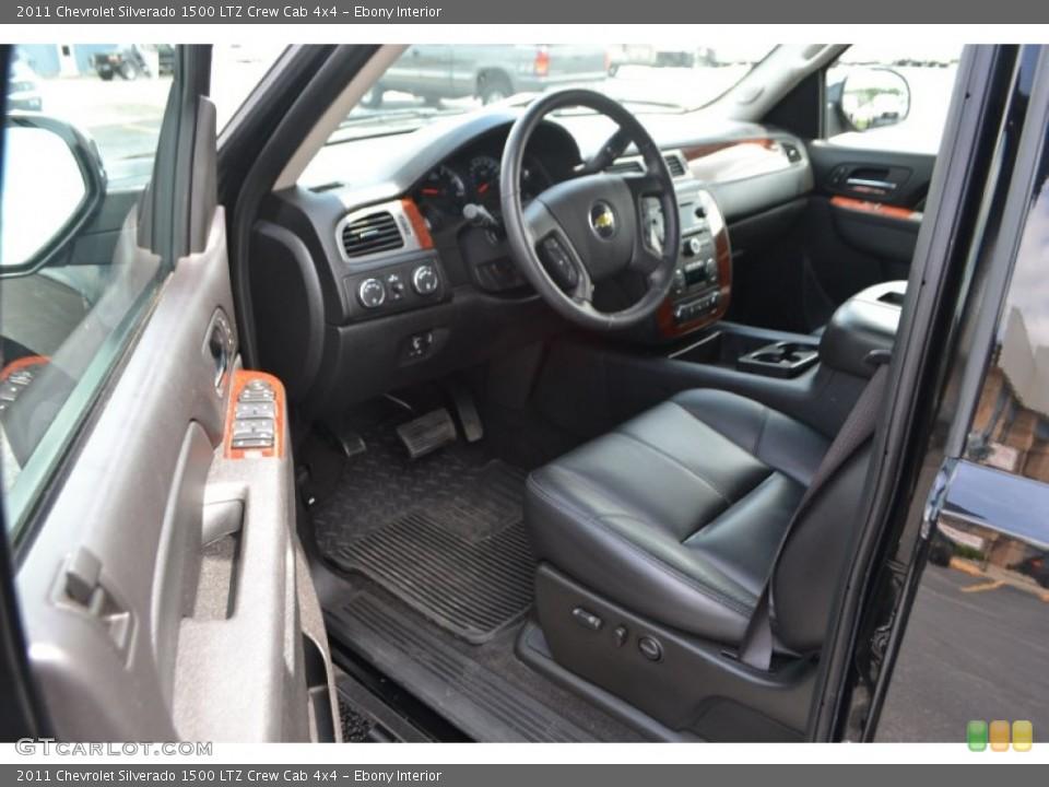 Ebony Interior Photo for the 2011 Chevrolet Silverado 1500 LTZ Crew Cab 4x4 #65150506