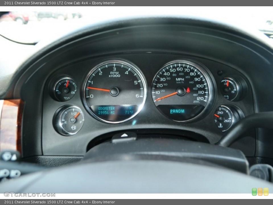 Ebony Interior Gauges for the 2011 Chevrolet Silverado 1500 LTZ Crew Cab 4x4 #65150541