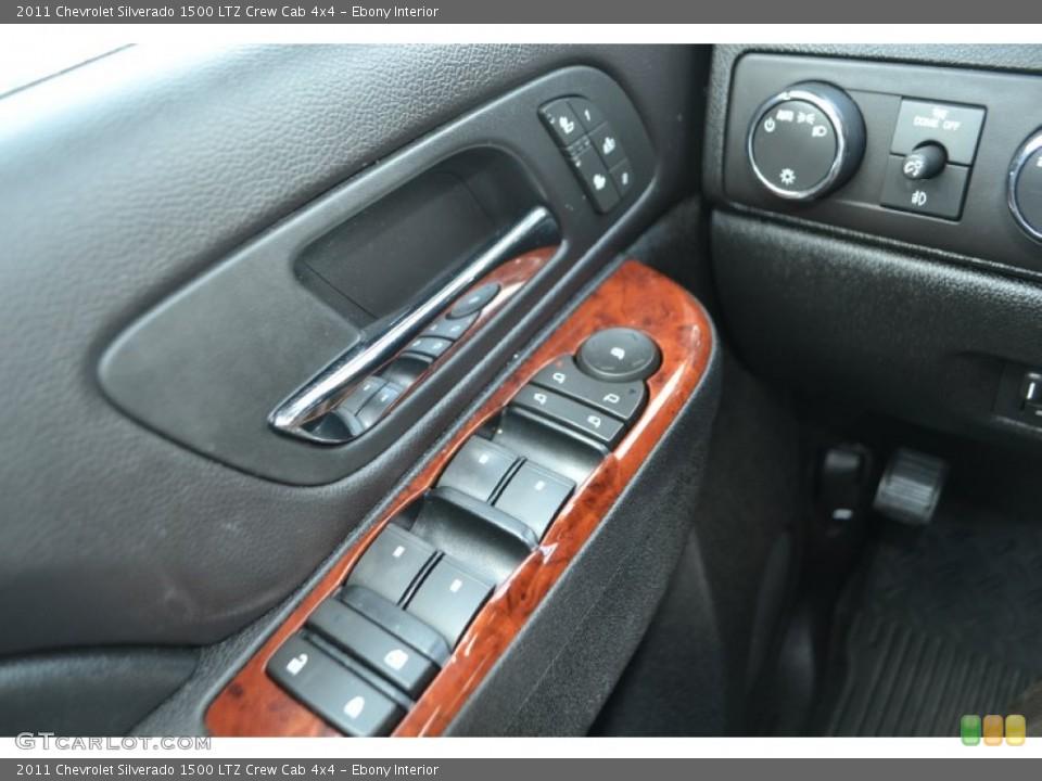 Ebony Interior Controls for the 2011 Chevrolet Silverado 1500 LTZ Crew Cab 4x4 #65150550