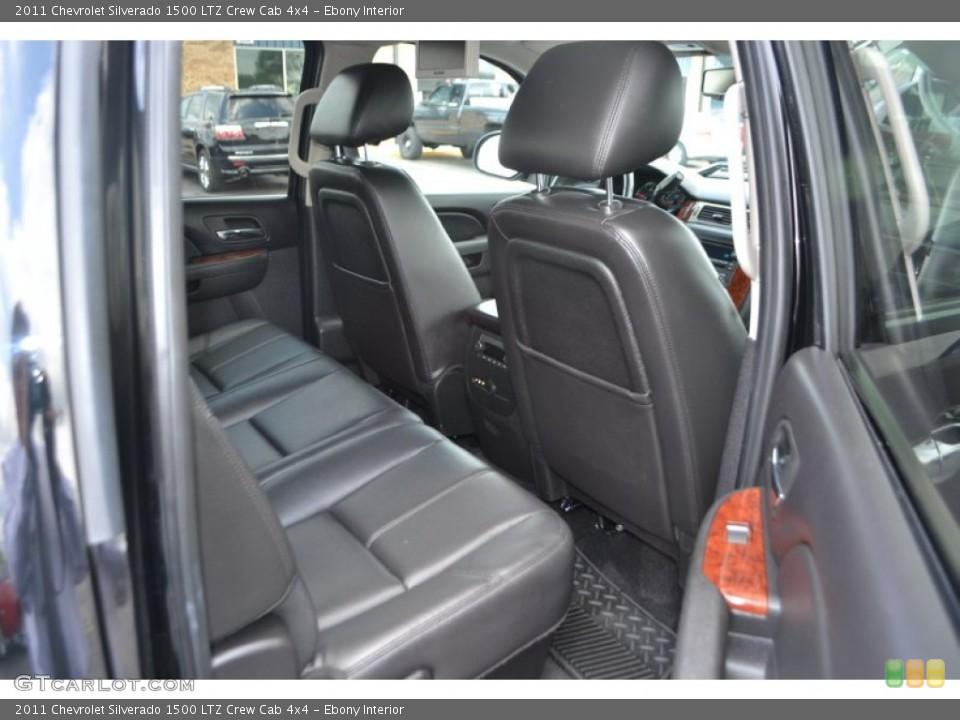 Ebony Interior Photo for the 2011 Chevrolet Silverado 1500 LTZ Crew Cab 4x4 #65150647