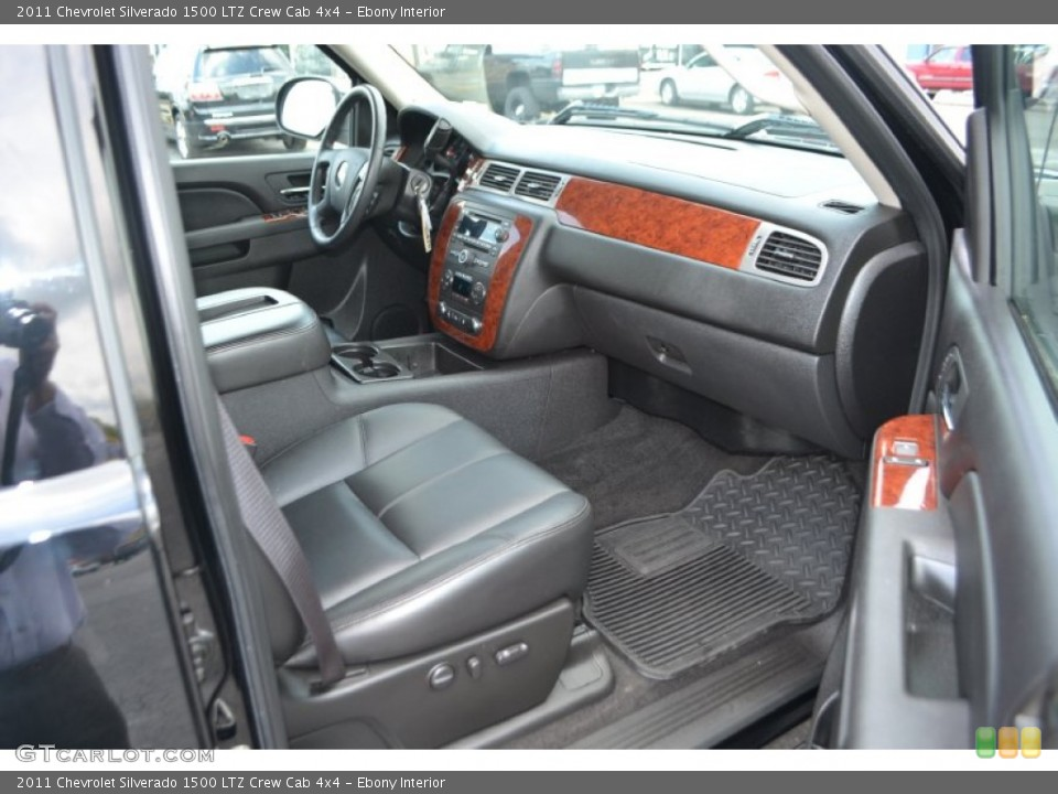 Ebony Interior Photo for the 2011 Chevrolet Silverado 1500 LTZ Crew Cab 4x4 #65150656