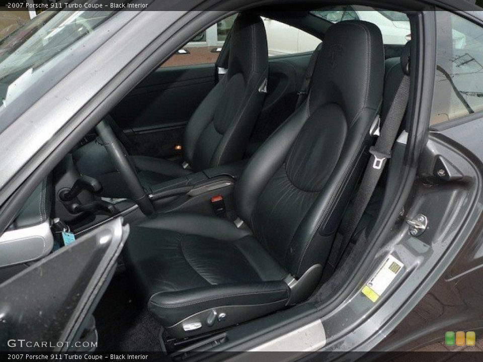 Black Interior Front Seat for the 2007 Porsche 911 Turbo Coupe #65167776