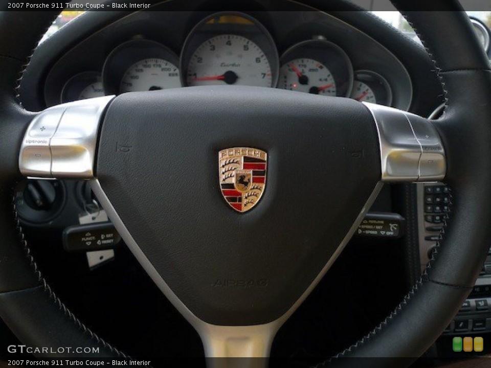 Black Interior Steering Wheel for the 2007 Porsche 911 Turbo Coupe #65167782