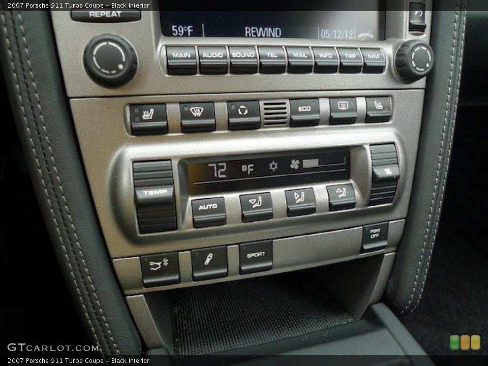 Black Interior Controls for the 2007 Porsche 911 Turbo Coupe #65167821