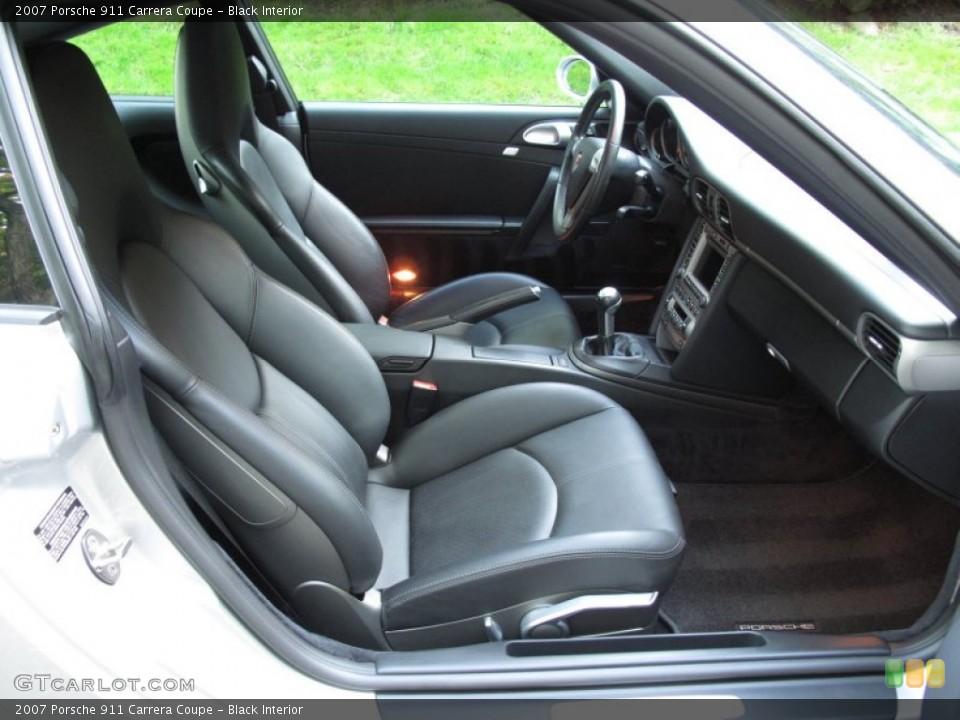 Black Interior Front Seat for the 2007 Porsche 911 Carrera Coupe #65325344