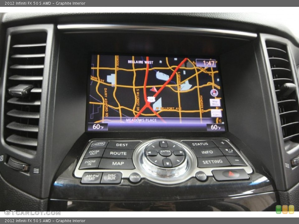Graphite Interior Navigation for the 2012 Infiniti FX 50 S AWD #65329337