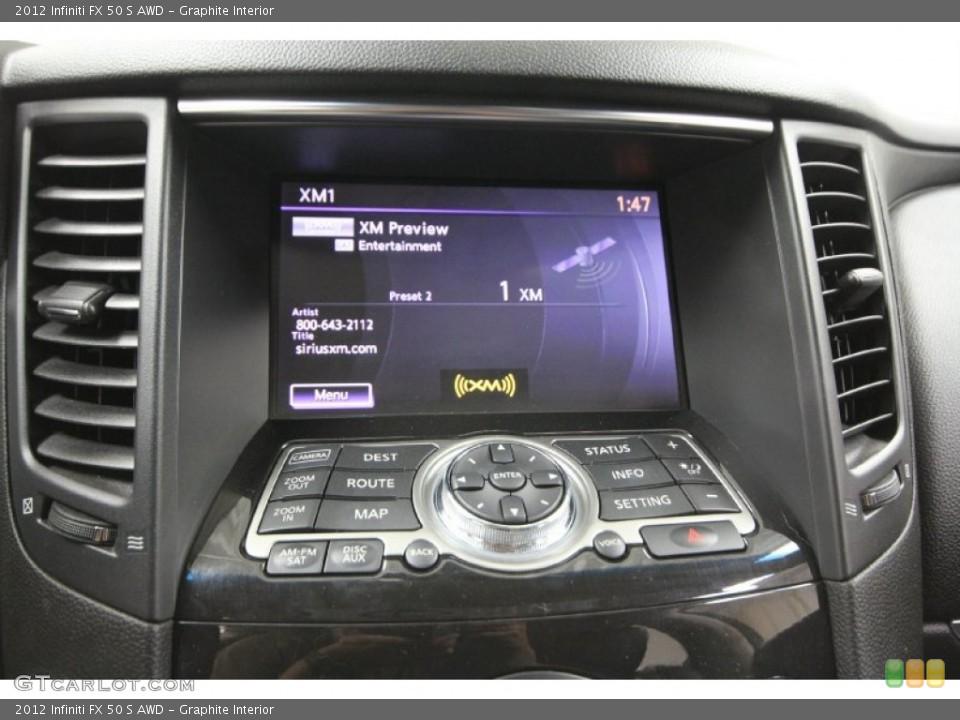 Graphite Interior Controls for the 2012 Infiniti FX 50 S AWD #65329364
