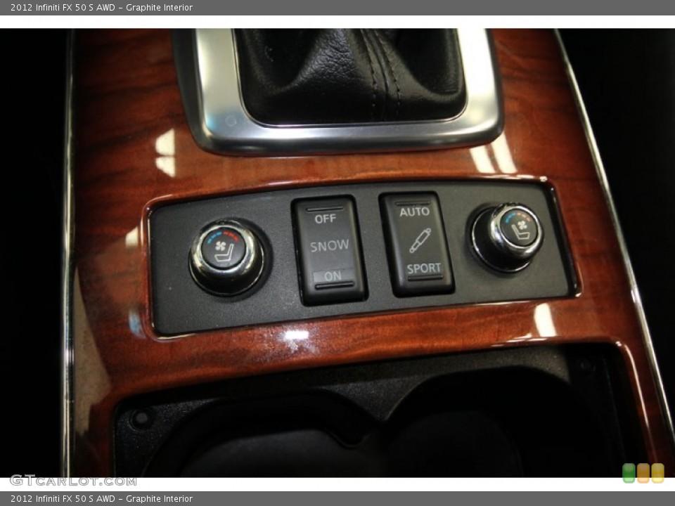 Graphite Interior Controls for the 2012 Infiniti FX 50 S AWD #65329391