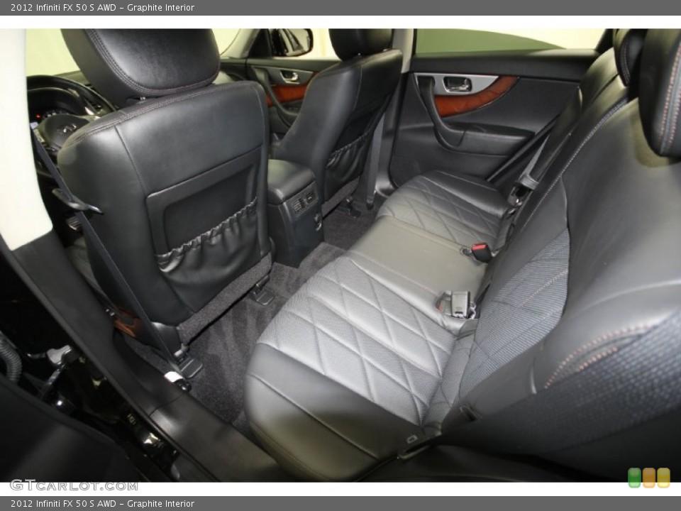 Graphite Interior Rear Seat for the 2012 Infiniti FX 50 S AWD #65329475