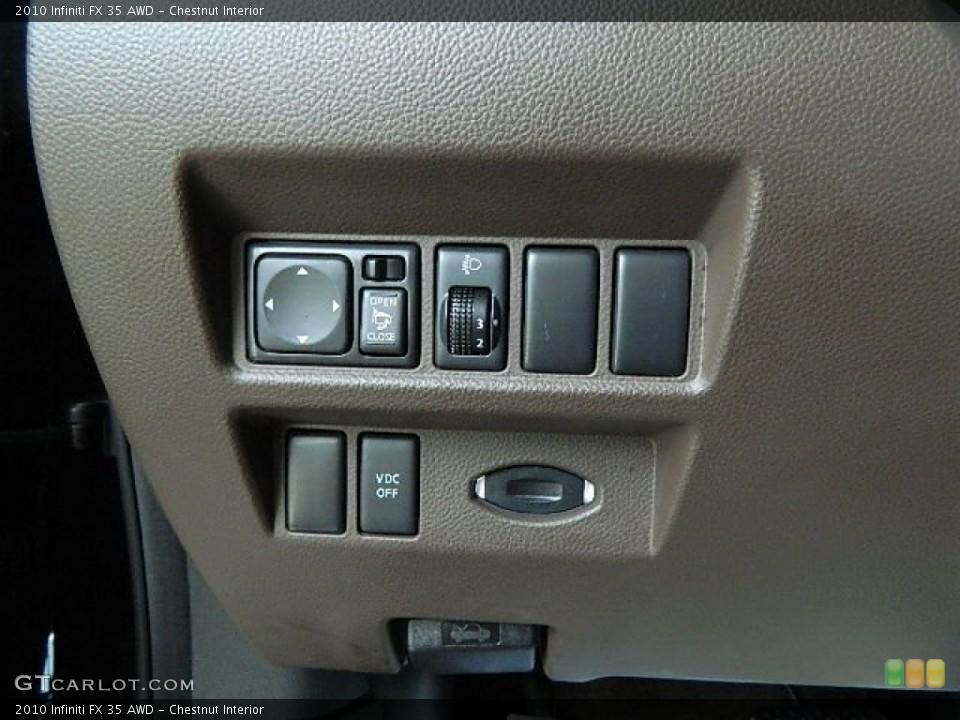 Chestnut Interior Controls for the 2010 Infiniti FX 35 AWD #65666338