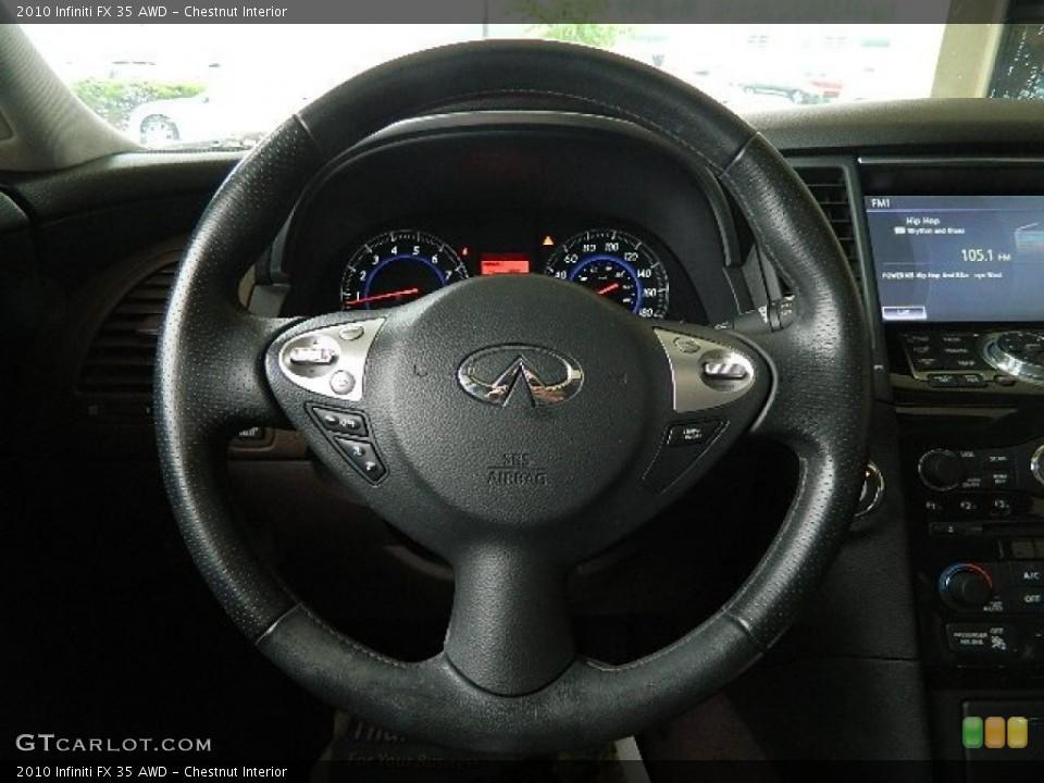 Chestnut Interior Steering Wheel for the 2010 Infiniti FX 35 AWD #65666386