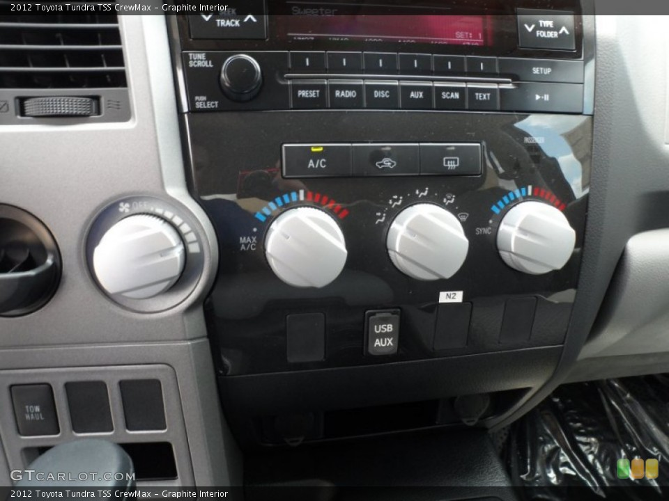 Graphite Interior Controls for the 2012 Toyota Tundra TSS CrewMax #65673772