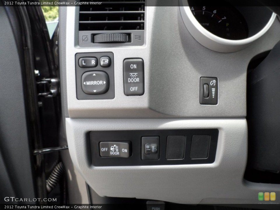 Graphite Interior Controls for the 2012 Toyota Tundra Limited CrewMax #65673886