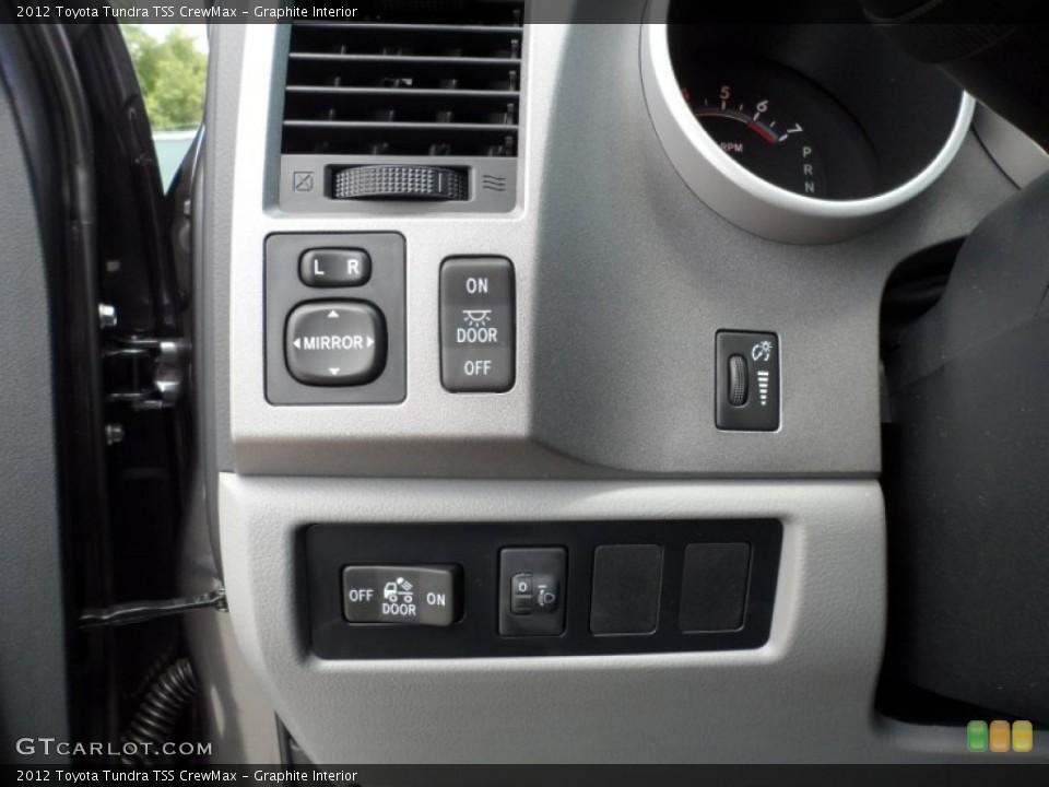Graphite Interior Controls for the 2012 Toyota Tundra TSS CrewMax #65673988
