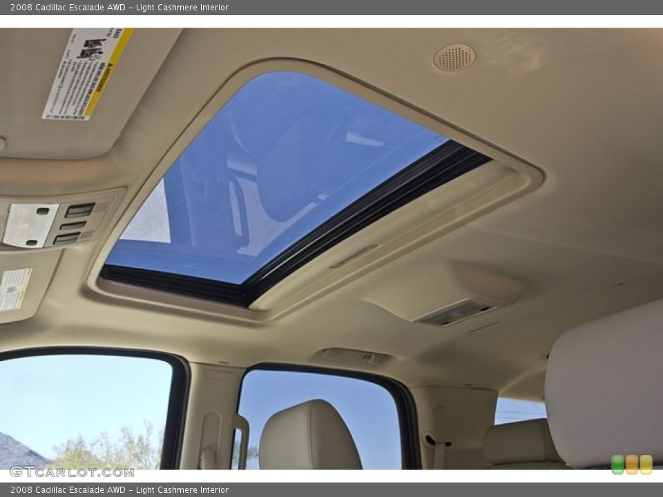 Light Cashmere Interior Sunroof for the 2008 Cadillac Escalade AWD #65857815