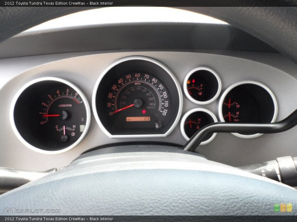 Black Interior Gauges for the 2012 Toyota Tundra Texas Edition CrewMax #65901539