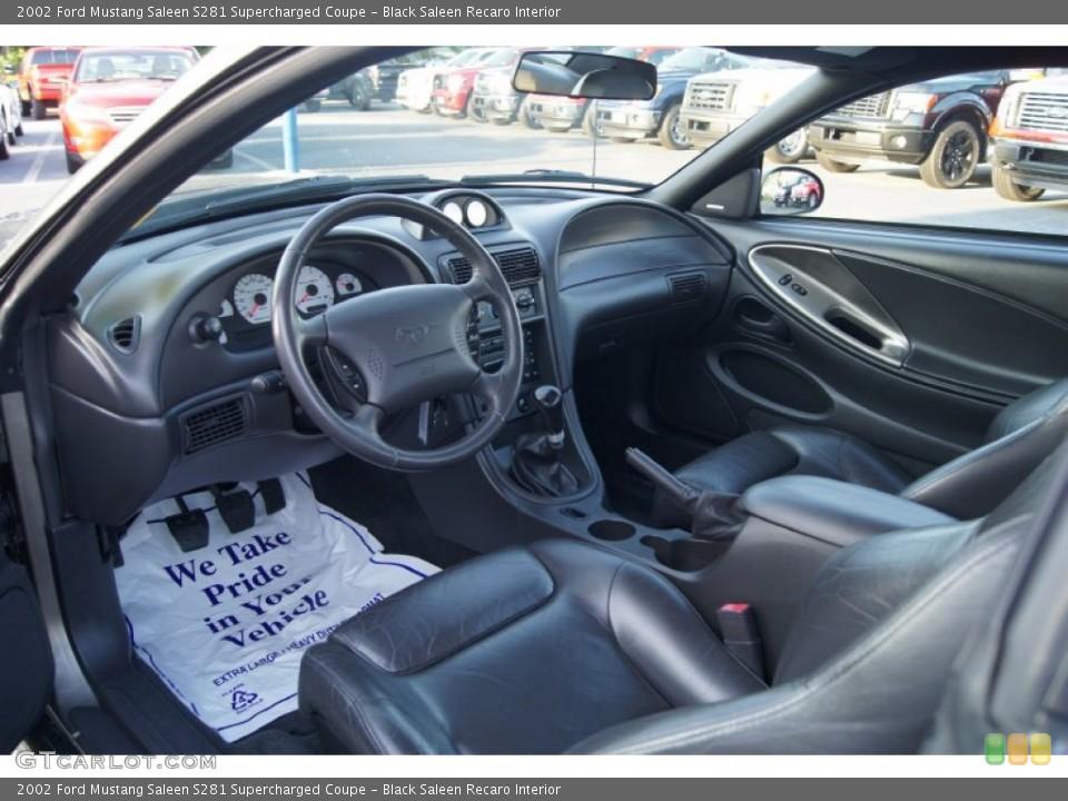 Black Saleen Recaro 2002 Ford Mustang Interiors
