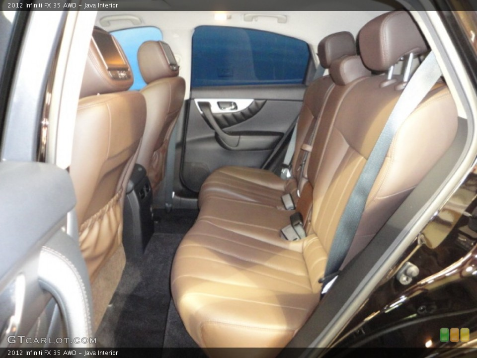 Java Interior Rear Seat for the 2012 Infiniti FX 35 AWD #65942183