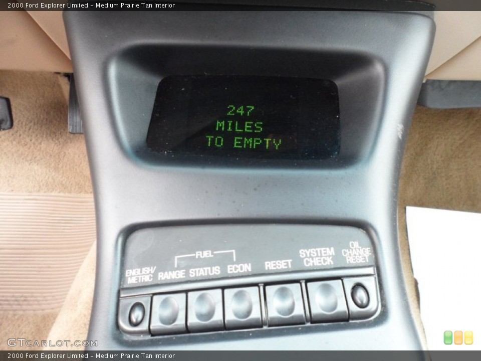 Medium Prairie Tan Interior Controls for the 2000 Ford Explorer Limited #65958218
