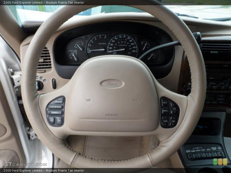 Medium Prairie Tan Interior Steering Wheel for the 2000 Ford Explorer Limited #65958236