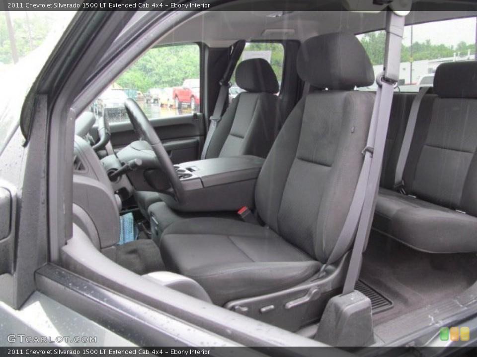 Ebony Interior Photo for the 2011 Chevrolet Silverado 1500 LT Extended Cab 4x4 #66012726
