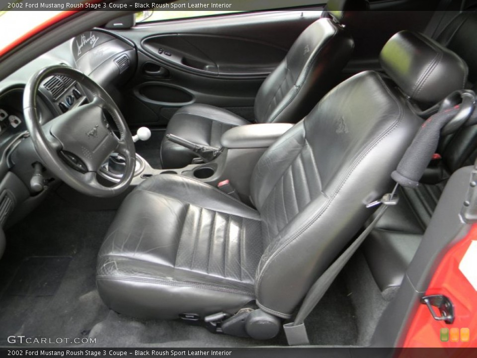 Black Roush Sport Leather Interior Photo for the 2002 Ford Mustang Roush Stage 3 Coupe #66025527