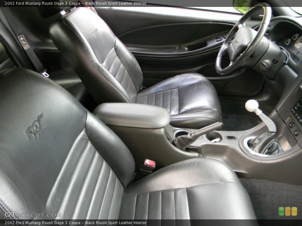 Black Roush Sport Leather 2002 Ford Mustang Interiors