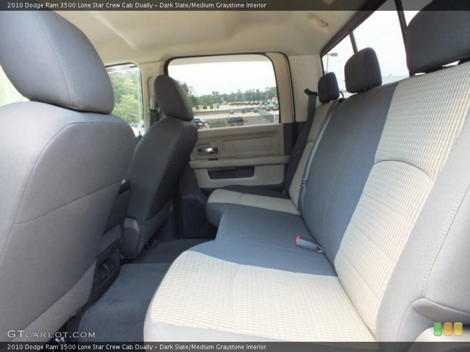 Dark Slate/Medium Graystone Interior Rear Seat for the 2010 Dodge Ram 3500 Lone Star Crew Cab Dually #66154991