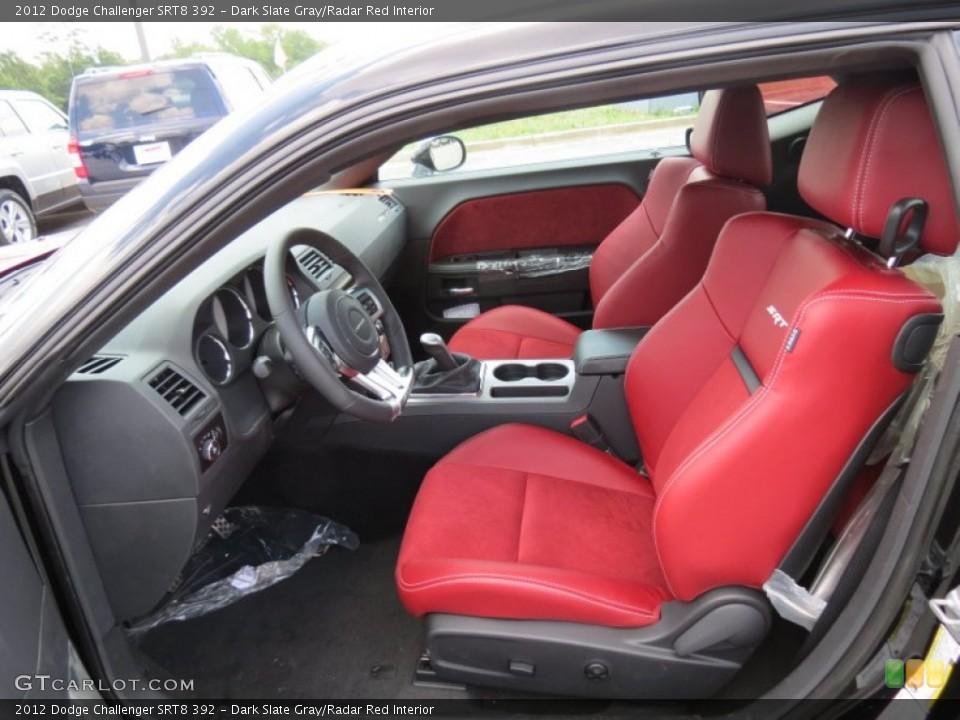 Dark Slate Gray/Radar Red 2012 Dodge Challenger Interiors