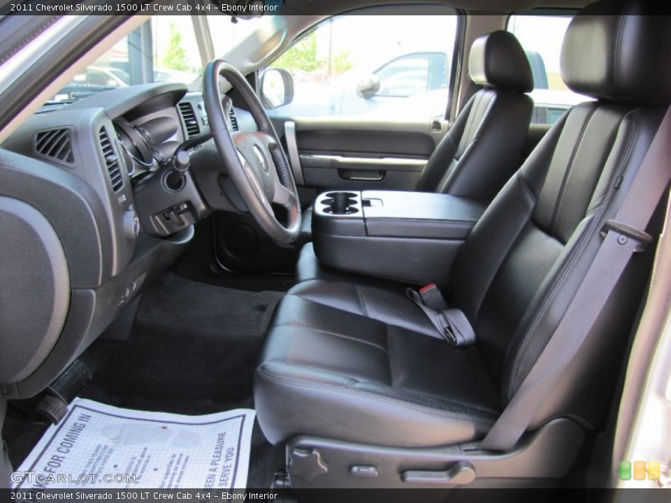 Ebony Interior Photo for the 2011 Chevrolet Silverado 1500 LT Crew Cab 4x4 #66289878