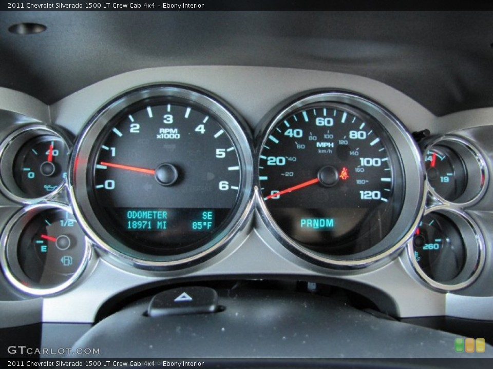 Ebony Interior Gauges for the 2011 Chevrolet Silverado 1500 LT Crew Cab 4x4 #66289887