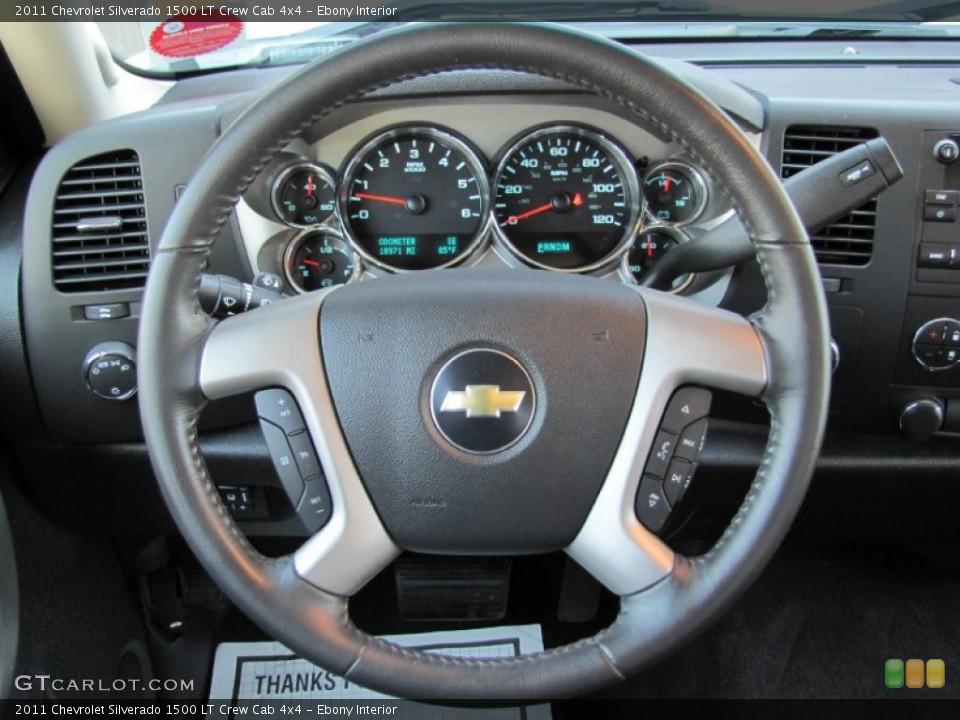 Ebony Interior Steering Wheel for the 2011 Chevrolet Silverado 1500 LT Crew Cab 4x4 #66289893