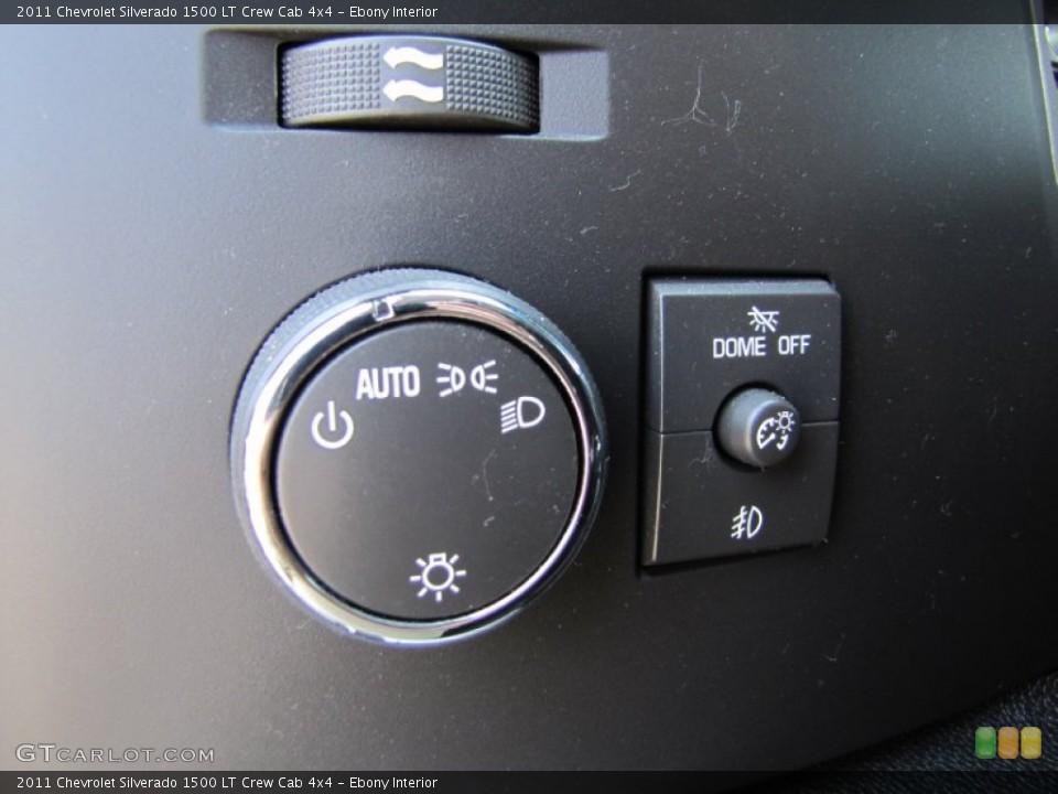 Ebony Interior Controls for the 2011 Chevrolet Silverado 1500 LT Crew Cab 4x4 #66289923