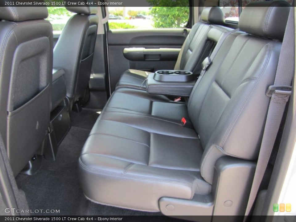 Ebony Interior Rear Seat for the 2011 Chevrolet Silverado 1500 LT Crew Cab 4x4 #66290004