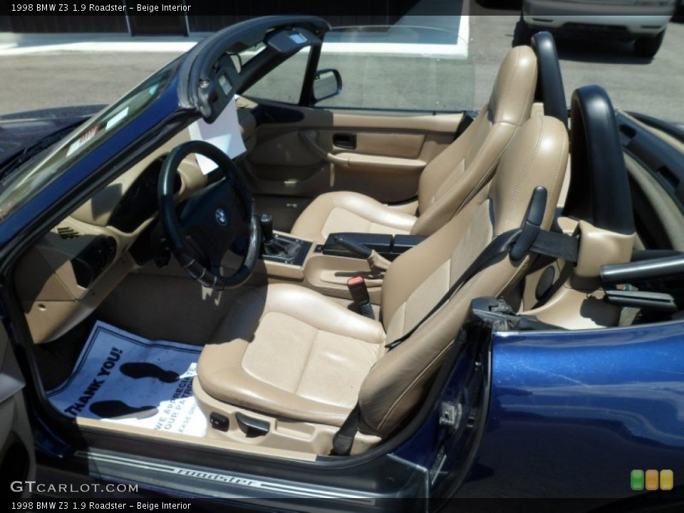 Beige Interior Photo for the 1998 BMW Z3 1.9 Roadster #66482178