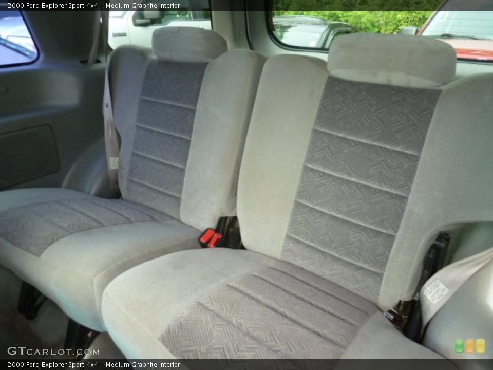 Medium Graphite Interior Rear Seat for the 2000 Ford Explorer Sport 4x4 #66542327